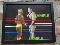 Hulk Hogan vs. Andre the Giant Wrestlemania III (3) Drawing Poster | WWE | WWF