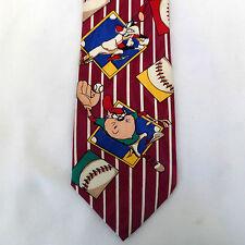 Looney Tunes Cartoon Baseball Neck Tie Rene Chagal Hand Made