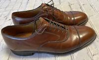 Johnston & Murphy OPTIMA Mens Oxfords Sz 8.5 D Lace Up Cap Toe Shoes Brown