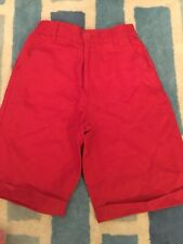 Boys VERTBAUDET Red Linen Shorts Age 5-6 Years