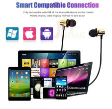 Gold Color Bluetooth Earbuds Headset In Ear earphones for All phones / Tablet