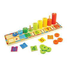 Bigjigs Toys Educational Wooden Learn to Count Stacker Stacking Toy