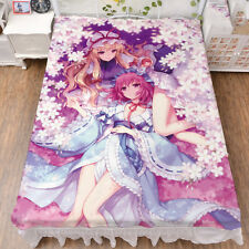 Bed Sheets Anime TouHou Project Saigyouji Yuyuko Coverlets Cosplay Bedspreads
