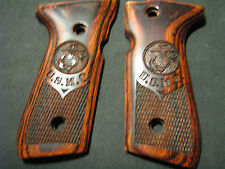 Beretta 92F 92FS U.S. MARINES USMC Rosewood Auto Pistol Grips Fancy Checkered+