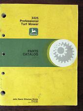 John Deere Parts Catalog 3325 Professional Turf Mower Pc2183 Original 1990