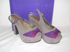 Madden Girl New Womens Banor Gray Multi Platform Slingback Sandals 7.5 M Shoes