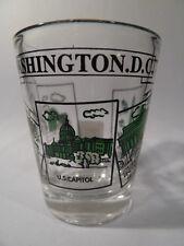 WASHINGTON DC SCENERY GREEN SHOT GLASS SHOTGLASS