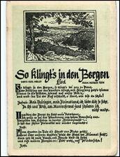 "Liedkarte Lied-AK ~1955 DDR Musik Text ""So klingt es in den Bergen"" Möller/Roth"