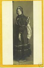 Photo Postcard - Woman in Costume with Doll on Back