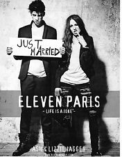 "Publicité advertising  2010   ELEVEN PARIS    ASH & LIZZIE JAGGER ""JUST MARRIED"""