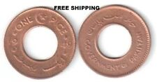 PAKISTAN - EARLY ONE PICE HOLE COIN 1949 COPPER UNC km#1 - 21mm Dia