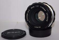 Nikon NIKKOR-H.C 50mm f2 pre AI Lente estándar de Prime.