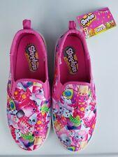 Shopkins Girls Slip On Canvas Shoes Size 2 Fuchsia Little Kid New