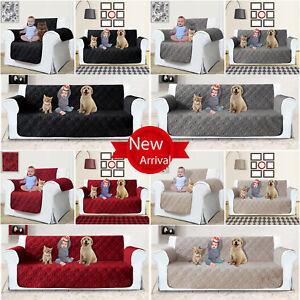 Quilted Waterproof Sofa Slip Cover, Anti Slip Pet Furniture Sofa Protector Throw