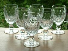 Super Set x6 Waterford Irish Cut Crystal Colleen Pattern White Wine Glasses 4.5""
