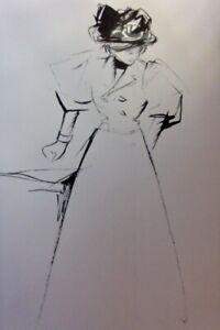 1897 2 orig.Lithograph Jean-Louis Forain STUDY CRAYON INK Art nouveau Sezession