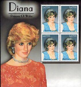 MODERN GEMS - Sierra Leone - Princess Diana of Wales II - Sheet of 4 - MNH