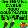 1M HDMI CABLE LEAD FOR HD PS3 SKY TV 3D VIRGIN BLU RAY