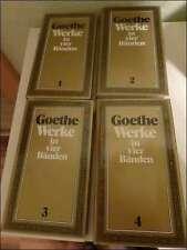 GOETHE : Werke in 4 Bänden / c 1983 - gebunden, in Schuber - TOP