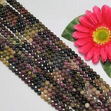 1 Fil Tourmaline 6mm Ronde multicolore Perles