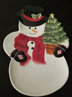 Harry and David Christmas Holiday Snowman Serving Dish New Unused