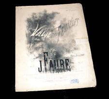 valse des feuilles partition piano chant 1868 J. Faure