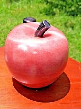 Vintage Marble Alabaster Apple Paperweight by Hallmark Cards, Inc