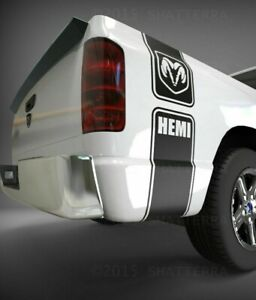 Dodge Ram 1500 2500 3500 Decal Sticker Vinyl Graphic Truck Bed Decal UNOFFICIAL