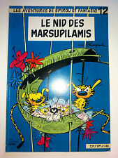 les aventures de spirou et fantasio LE NID DES MARSUPILAMIS N 12 dupuis FRANQUIN