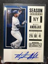 MIGUEL ANDUJAR 2018 Panini Contenders Auto RC Yankees Rookie Autograph
