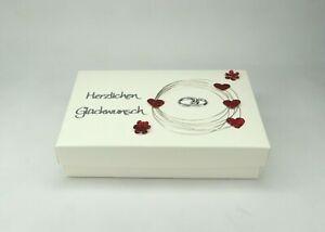 Geschenkschachtel Geldgeschenk Box Herzen Hochzeit