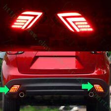 2x For Mazda CX-5 cx5 2012-2016 LH+RH Rear Fog Taillight  Brake Lamp LED Covers