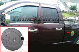 fit:2002-2008 Dodge Ram 1500/03-09 2500 Chrome Fuel Door Gas Cap Cover