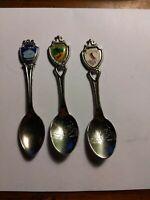 Vintage Souvenir Collector Spoon - Lot of 3 Virginia Delaware Shenandoah  - H3