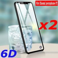 6D For Xiaomi Pocophone F1 9H Full Coverage Tempered Glass Screen Protector Lot