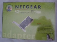 NIB Netgear 32 Bit PCI Adapter 10/100 Mbps Fast Ethernet FA311