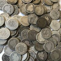 Barber Dimes 1892-1916 Constitutional Junk 90% Silver Lot of 5 5x