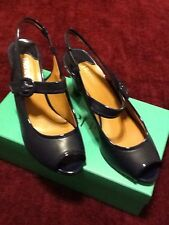 NEW. J RENEE NAVY BLUE KIDSKIN PATENT PUMP12W
