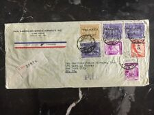 1941 Lima Peru Pan American Airways Registered Cover to New York USA