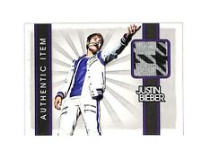 2012 Panini #2 Justin Bieber authentic event worn shirt relic card Singer