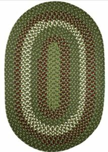 Manhattan Durable Country Cottage Home Classic Braided Rug Greenmarket MA24