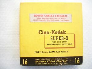 Vintage Cine-Kodak Super-X 16mm Film 100' Roll Sealed Exp 8/56