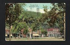 McGregor Iowa IA 1929 Triangle Square, Core Downtown Buildings, Fountain & Park