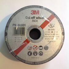 """25 x 3M cut off wheel 4.5"""" 115mm disque de meulage 60831"""