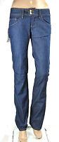 Jeans Donna Pantaloni MET Italy C452 Vita Bassa Gamba Dritta Blu Tg da 25 a 33
