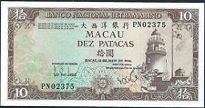 Macau 1984 10 Patacas PK 59e CU