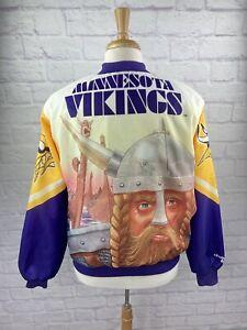 Vintage 80s ChalkLine Fanimation Jacket Minnesota Vikings LG 90s NFL Football