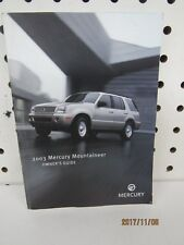 2003 Mercury Mountaineer Owners Manual (book only)   FREE SHIPPING