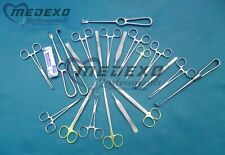 General Surgery Spay Pack 76 Pieces Hand Set Kit Stainless Steel