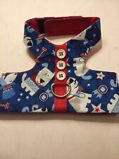 4th of July flag Harness Vest Dog - M (565-566)